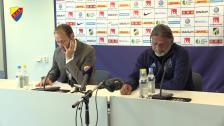 Presskonferensen efter Häcken Djurgården