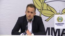 Presskonferensen efter Hammarby - Halmstads BK