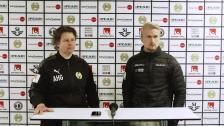 Presskonferensen efter Hammarby - Växjö
