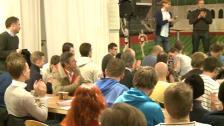 Publikrekryteringsmöte i Torben Grut-salen