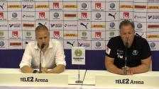 Presskonferensen efter 1-0-segern mot Trelleborg