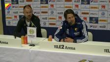 Presskonferensen efter derbyt mot Hammarby