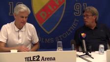 Presskonferensen efter Djurgården - Hammarby