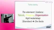 Agiles tre element och deras balans - Agila Sverige 2014 - Space 5 juni
