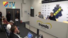 Presskonferensen efter derbyt