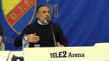 Presskonferensen efter Djurgården Degerfors