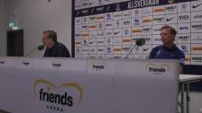 Presskonferensen efter AIK - Djurgården