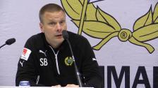 Presskonferensen efter cupmatchen mot GAIS