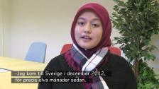 Exempel på muntlig nivå för B-kurs (Nurul berättar)