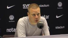 Se presskonferensen efter förlusten mot AIK