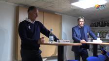 Presskonferensen efter HBK-DIF