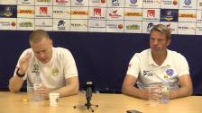 Se presskonferensen efter segern i Falkenberg
